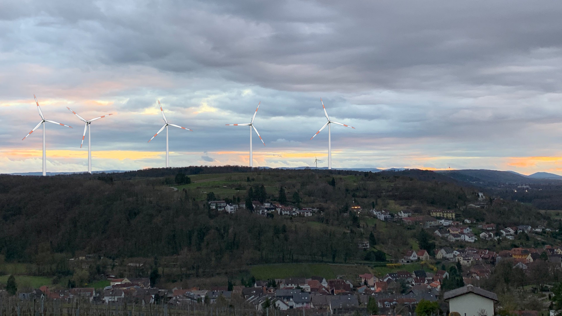 Visualisierung des Windparks in Weingarten