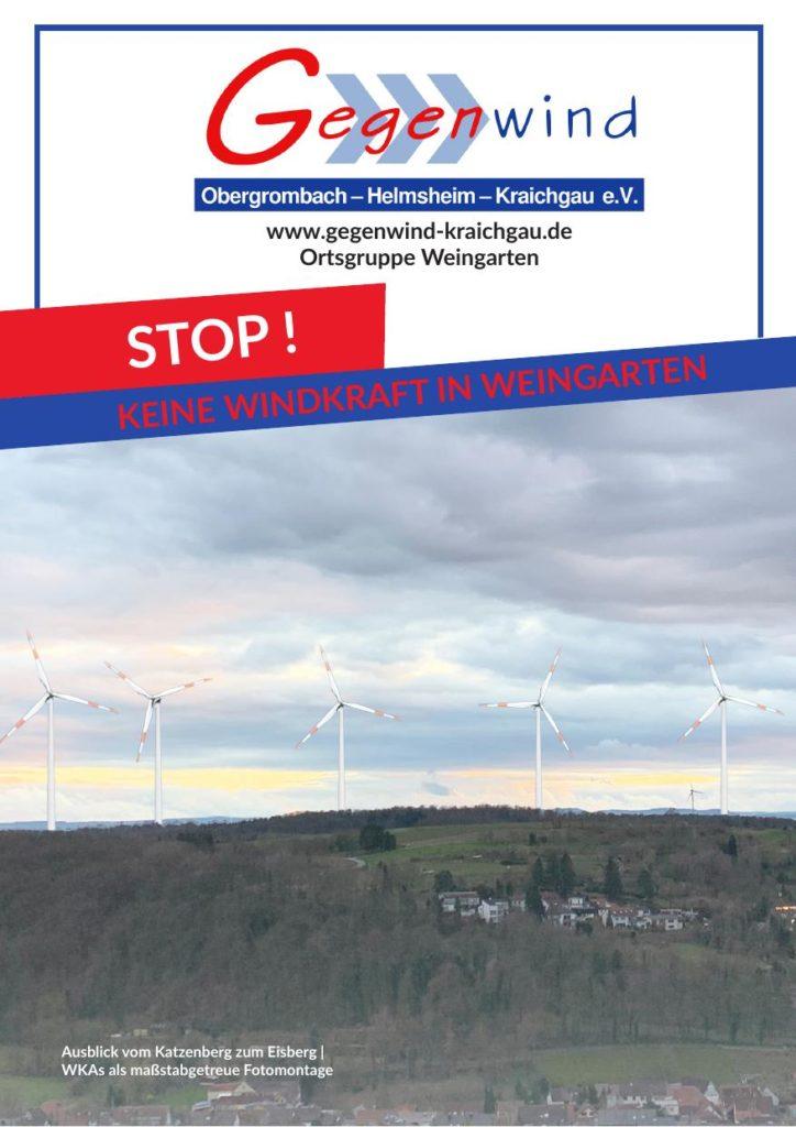 Flyer: EnBW plant Windpark in Weingarten - Seite 1
