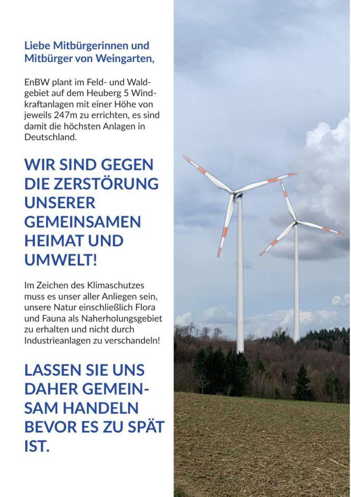 Flyer: EnBW plant Windpark in Weingarten - Seite 2
