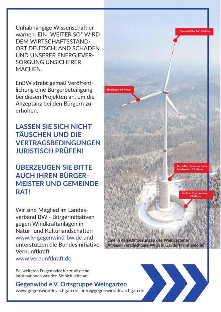 Flyer: EnBW plant Windpark in Weingarten - Seite 3