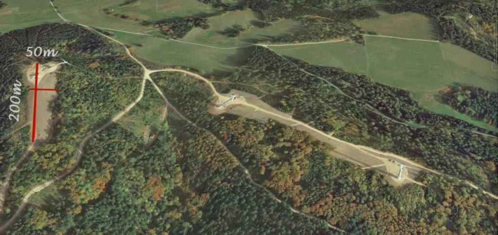 Abb.11 - Gerodete Waldfläche für drei WKAs am Standort Hassel bei Todtmoos